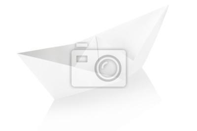 Papier Boot mit Clipping-Pfad