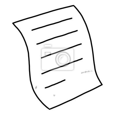 Fototapete Papier / Cartoon-Vektor und Illustration, schwarz und weiß, Hand gezeichnet, Skizze Stil, isoliert auf weißem Hintergrund.