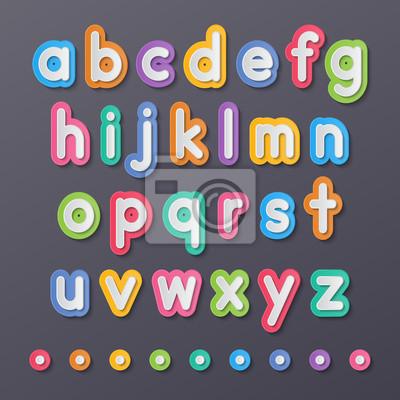 Papier kleine Buchstaben