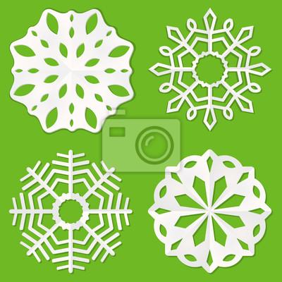 Papier Schneeflocken Fototapete Fototapeten Minimal Schneeflocke