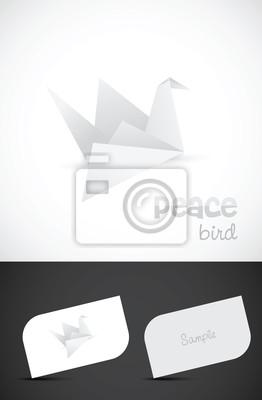 Papier Vogel Logo Design Mit Visitenkartenvorlagen