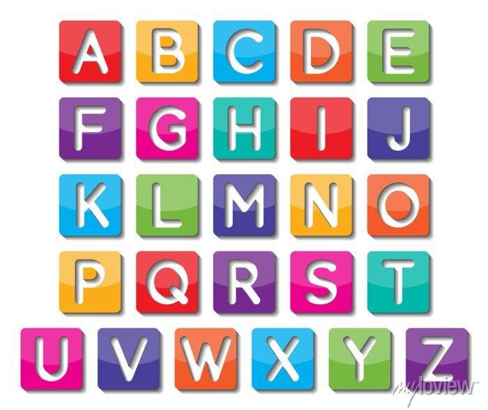 Fototapete Papiergroßbuchstaben