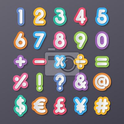 Papiernummer und Symbol