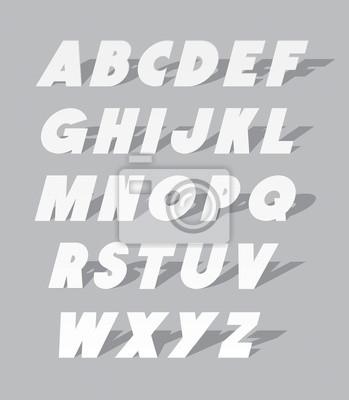 Pappe oder Papier Schriftart. Vector Alphabet