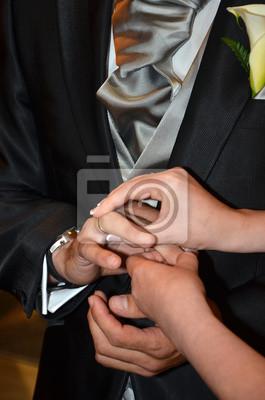 Pareja De Novios Casandose Fototapete Fototapeten Brautpaar