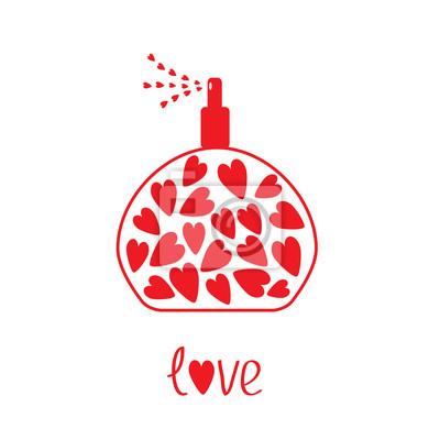 Parfüm mit Herz im Inneren. Karte