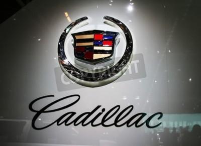 Fototapete PARIS - 14. Oktober: Ein General Motors Co. (GM) Cadillac Logo ist auf der Unternehmens Volt während der Paris Motor Show 2010 an der Porte de Versailles, am 14. Oktober 2010 in Paris, Frankreich