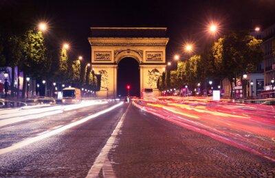 Fototapete Paris, Champs-Elysees at night