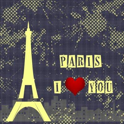 Fototapete Paris - die Stadt der Liebe und Romantik