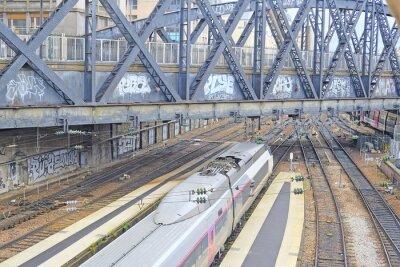 Fototapete Paris, Frankreich, 9. Februar 2016: Nord-Bahnhof in Paris, Frankreich