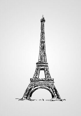 Fototapete Paris Kunst, Design, Illustration