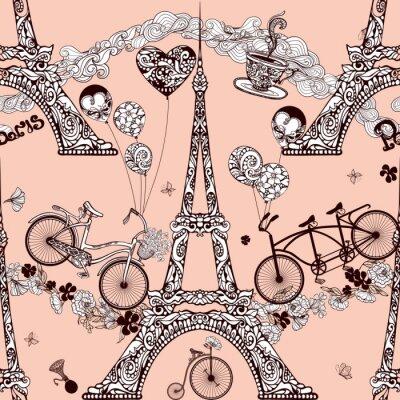 Paris Nahtlose Muster