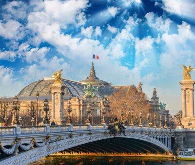 Fototapete Pariser Gebäuden und Wahrzeichen