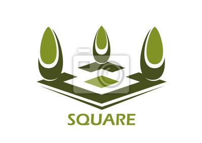 Park oder Emblem Design-Element