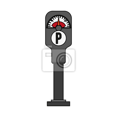 Parkhaus meter symbol bild vektor-illustration design fototapete ...