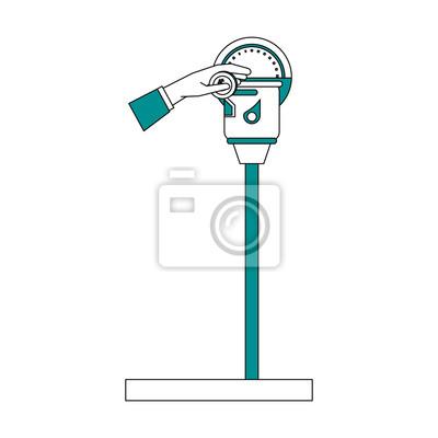 Parkplatz meter symbol bild vektor-illustration design fototapete ...
