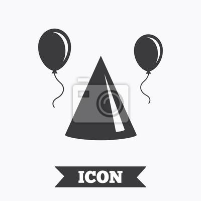 Partei Hut Zeichen Symbol Geburtstag Feier Symbol Fototapete