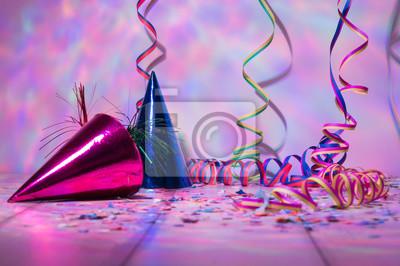 Party Karneval Fasching Luftschlangen Im Buntem Licht Mit