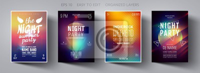 Fototapete Party poster. Minimal background.  Mesh Gradient. Template design.  Party invitation. Minimal design. Vector background. Gradient vector. Poster design. Party flyer. Mesh background. Minimal style