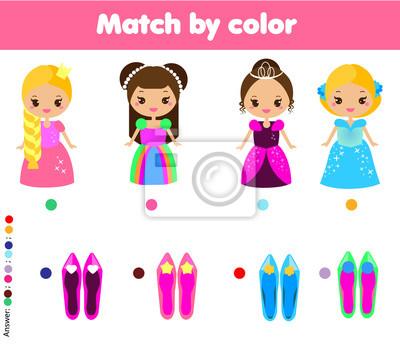 Passendes kinderlernspiel. aktivitäten für kinder. übereinstimmen ...