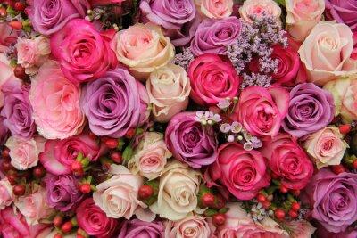 Fototapete Pastel Hochzeit Blumen