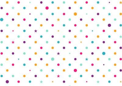 Fototapete Pastell Bunte Punkte Weißer Hintergrund Vektor-Illustration