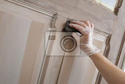 Patin peinture porte intérieur dekoration maison fototapete ...