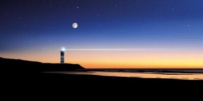 Fototapete Paysage phare-mer