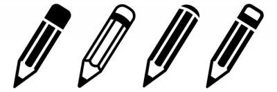 Fototapete Pencil icon set. Vector illustration