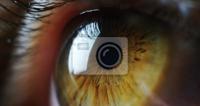 Fototapete Perfekte grüne Augen Makro in einer sterilen Umgebung und perfekte Vision in Auflösung