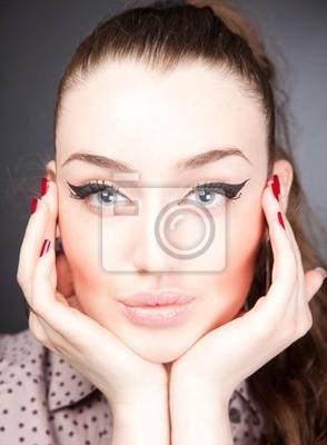 Perfektes Gesicht Fototapete Fototapeten 60 Eyeliner Bilden
