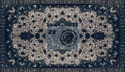 Persische Teppich Textur Abstrakte Ornament Rundes Mandala