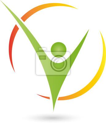 Person In Bewegung Logo Mensch Fitness Fototapete Fototapeten