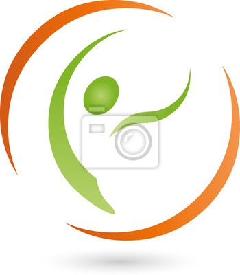 Person In Bewegung Logo Mensch Heilpraktiker Fototapete