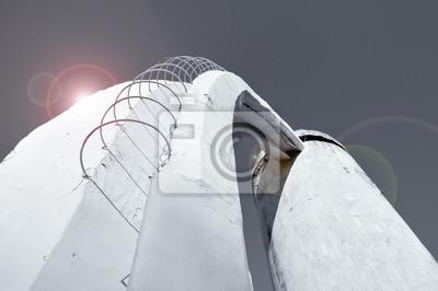 Perspektive Bodenansicht Der Treppe Aus Beton Und Bewehrung