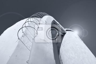 treppe in minimalistischem stil bilder, perspektive bodenansicht der treppe aus beton und bewehrung, Design ideen