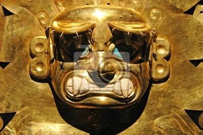 Peruanischen Alte Maske aus Gold