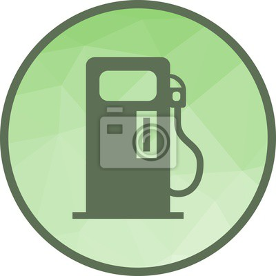 Fototapete Petrol Pump Icon