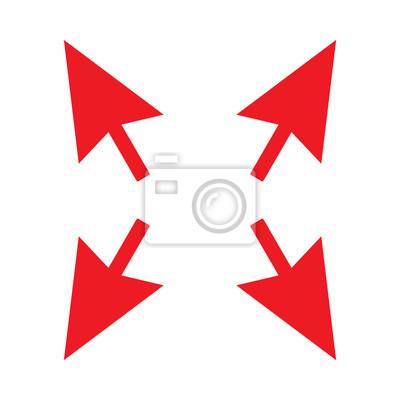 Pfeil Rote Farbe Isoliert Vektor Fototapete Fototapeten