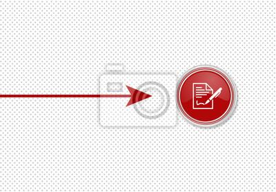 Pfeil Zeigt Auf Knopf Vertrag Unterschreiben Fototapete