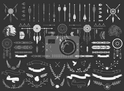Pfeile, Bänder, indische Elemente, aztekische Grenzen