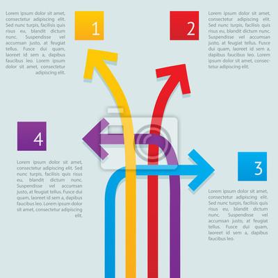 Pfeile Wege Infografik