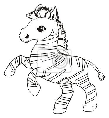 Pferd, tier, karikatur, hengst, hufe, nachbar, spielzeug, zebra ...