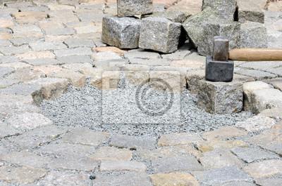 Pflaster Verlegen Fototapete Fototapeten Bauarbeiten Naturstein