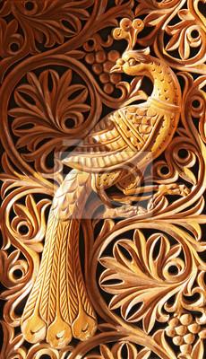 phoenix, Holzschnitzerei