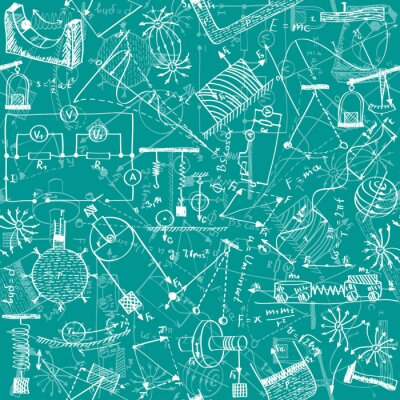 Fototapete Physik nahtlose Muster
