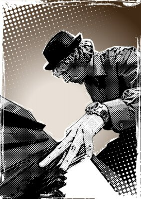 Pianist Illustration