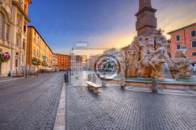 Fototapete Piazza Navona in Rom. Italien
