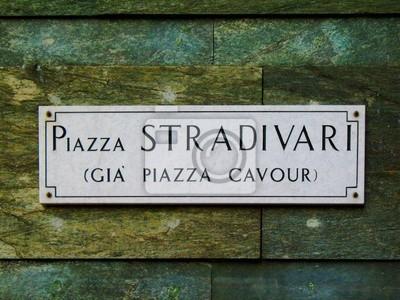 Piazza Stradivari Zeichen