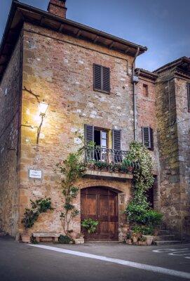 Fototapete Pienza bei Nacht, Toskana